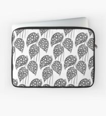 Leaves with Stains - Black & White Laptop Sleeve