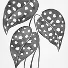 Leaves with Stains - Black & White by zephyrra