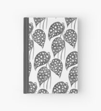 Leaves with Stains - Black & White Hardcover Journal