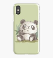 Panda that is eating bamboo iPhone Case