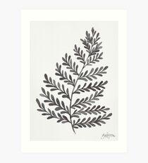 Fern Leaf - Black & White Art Print