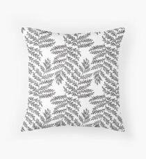 Fern Leaf - Black & White Throw Pillow