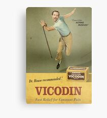 Dr. House Vicodin Recommended Metal Print
