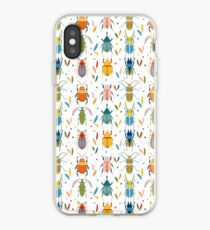 Colourful beetles iPhone Case