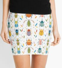 Colourful beetles Mini Skirt