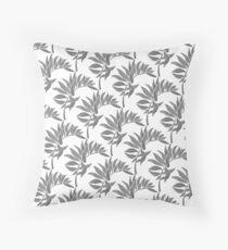 Tropical Leaf - Black Palette Throw Pillow