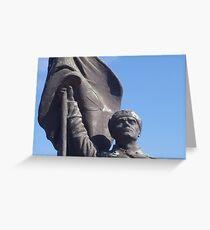 Soviet Soldier statue - Memento Park, Budapest, Hungary Greeting Card
