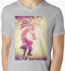 5072 Kokopelli Mens V-Neck T-Shirt