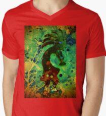 5071 Kokopelli Mens V-Neck T-Shirt
