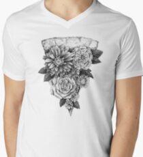 Flower Pizza V-Neck T-Shirt