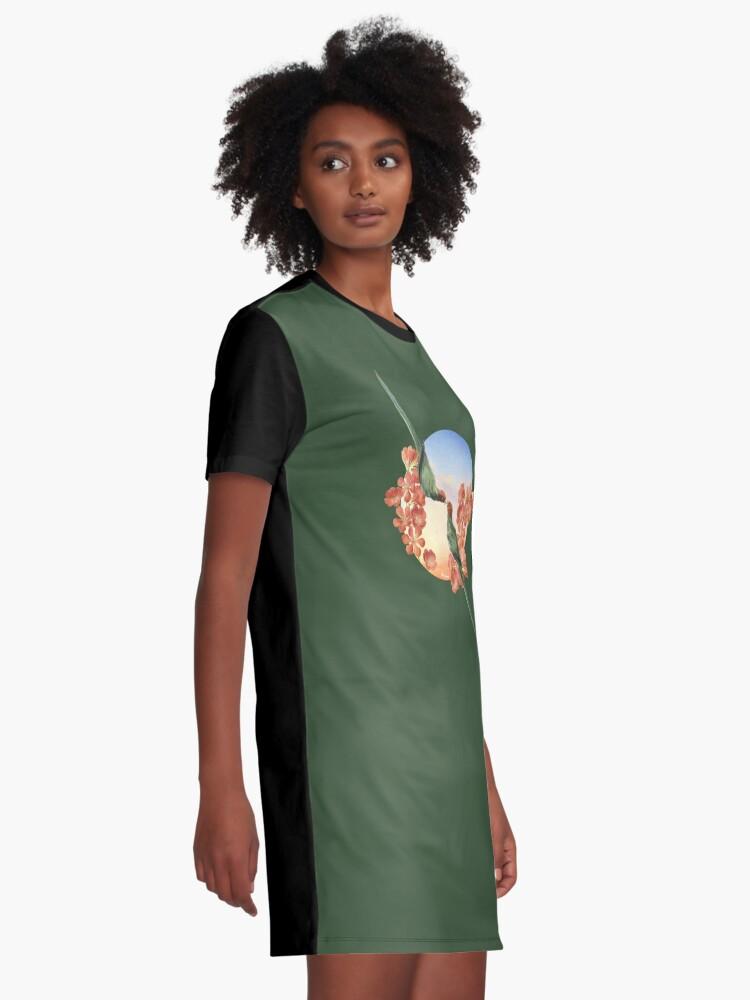 Alternate view of Lover Birds Graphic T-Shirt Dress