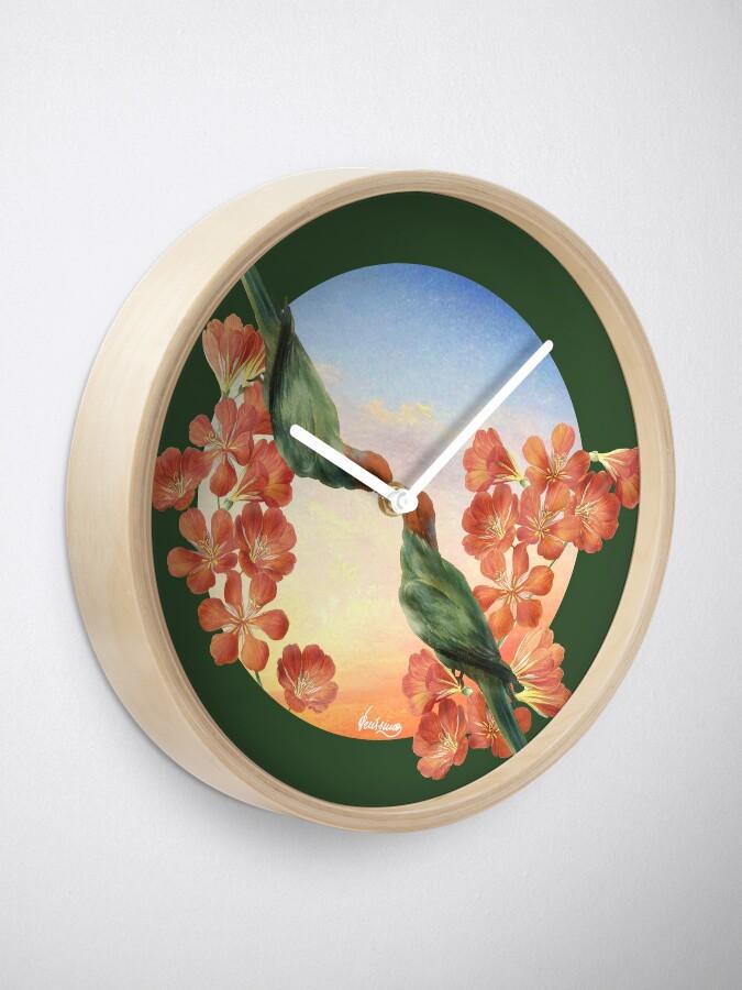 Alternate view of Lover Birds Clock