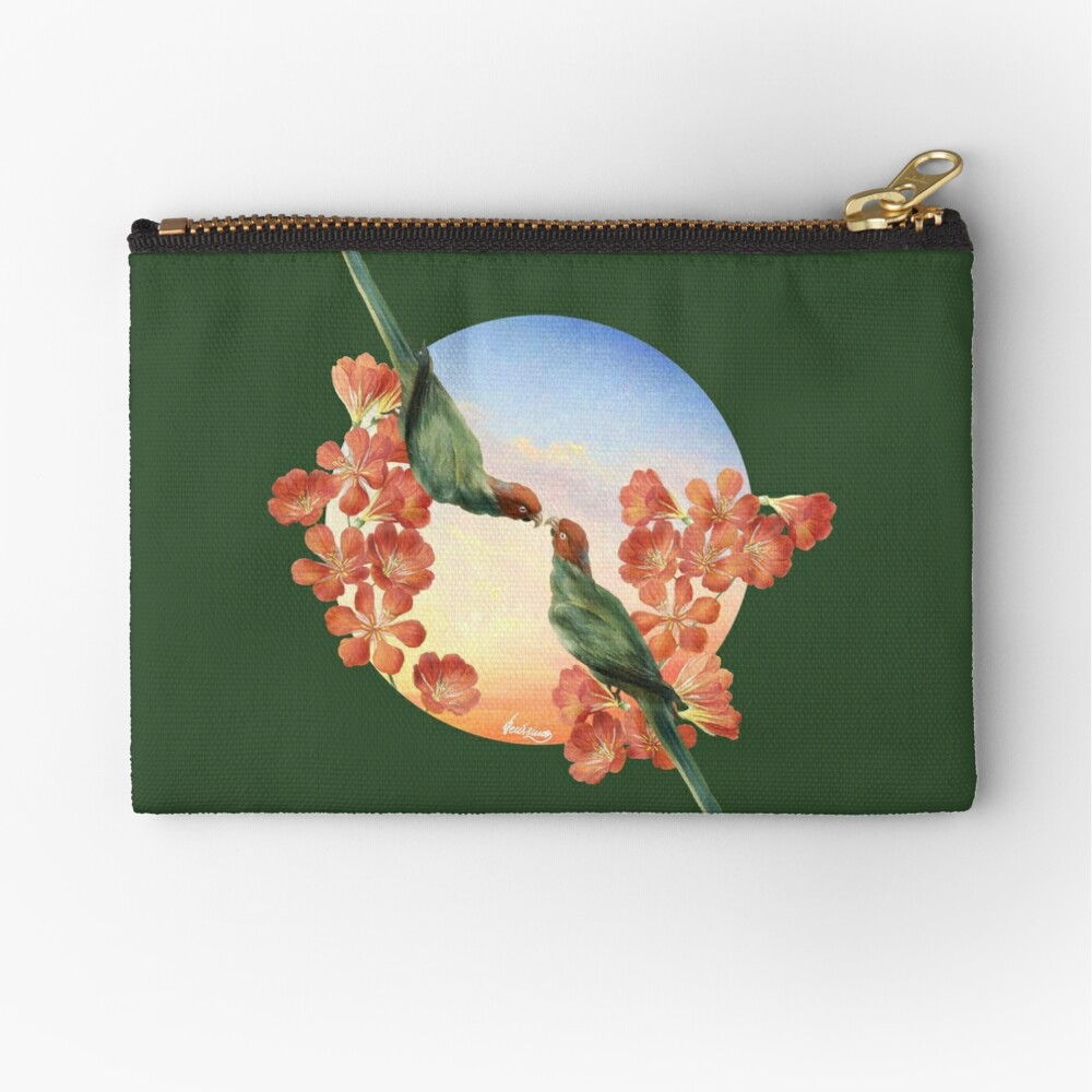 Lover Birds Zipper Pouch
