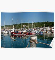 Summer Morning ~ Lyme Regis Harbour Poster