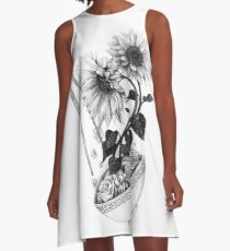 Sunflower Ramen A-Line Dress