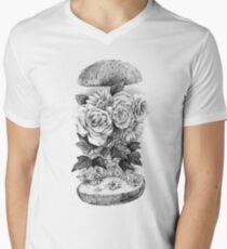 Flower Burger V-Neck T-Shirt