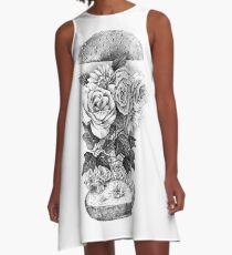 Flower Burger A-Line Dress