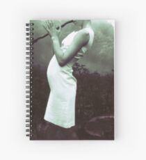 flute stick witch Spiral Notebook