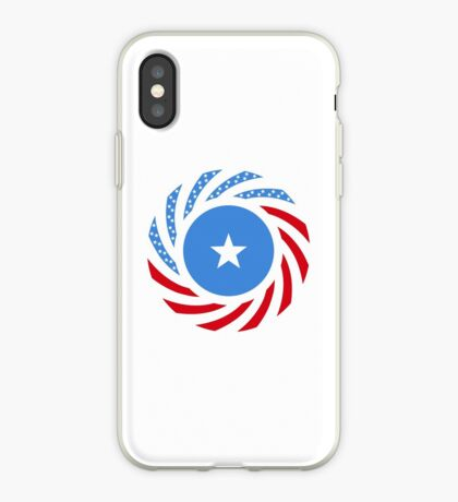 Somali American Multinational Patriot Flag Series iPhone Case