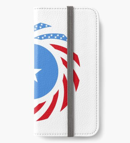 Somali American Multinational Patriot Flag Series iPhone Wallet