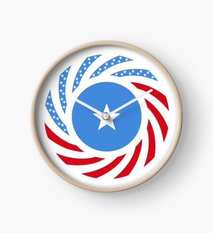 Somali American Multinational Patriot Flag Series Clock