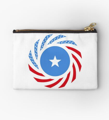 Somali American Multinational Patriot Flag Series Zipper Pouch