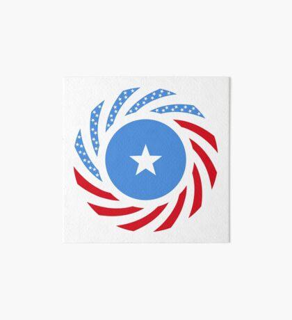 Somali American Multinational Patriot Flag Series Art Board Print