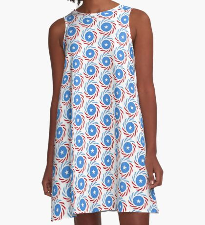 Somali American Multinational Patriot Flag Series A-Line Dress