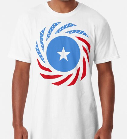 Somali American Multinational Patriot Flag Series Long T-Shirt