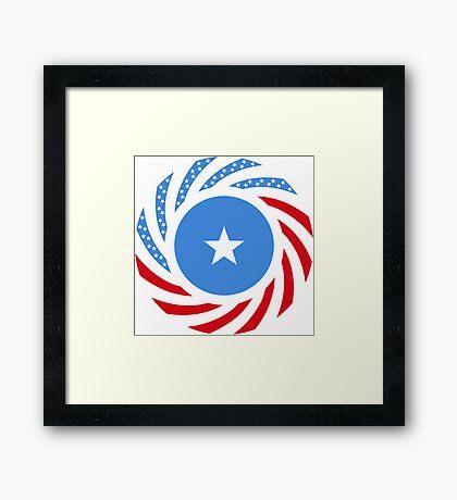 Somali American Multinational Patriot Flag Series Framed Print