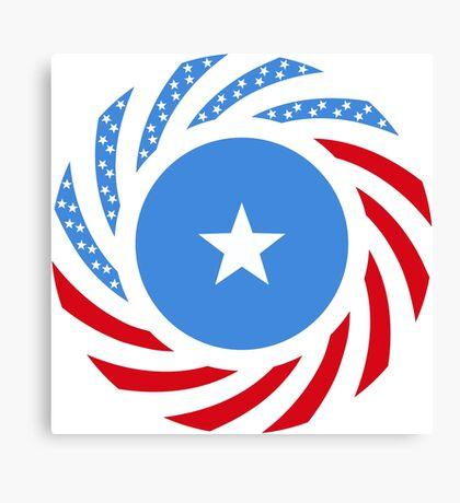 Somali American Multinational Patriot Flag Series Canvas Print