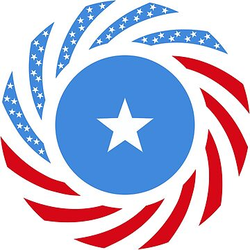 Somali American Multinational Patriot Flag Series by carbonfibreme