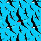 Frigate Birds Majestic Flight  by BluedarkArt