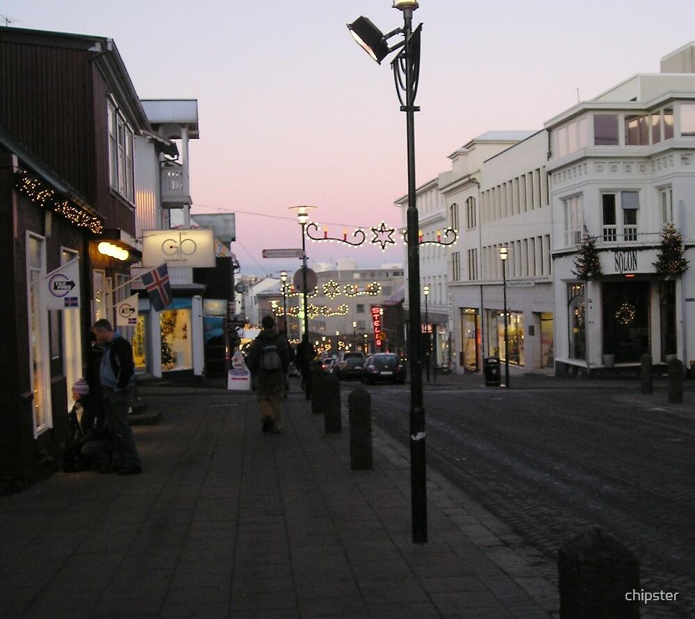 Christmastime in Reykjavik, Iceland by chipster
