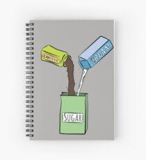 Cuaderno de espiral Me gusta mi azucar con cafe y crema