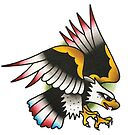 Traditional American Eagle Tattoo Design by FOREVER TRUE TATTOO