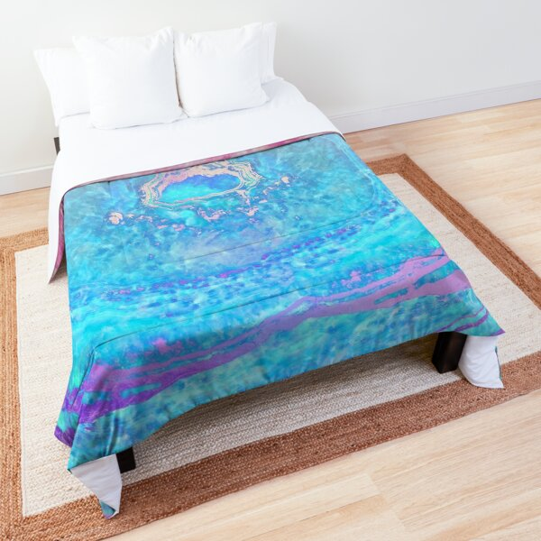 Stone Agate Geode Mineral Rock Pretty Colors Comforter