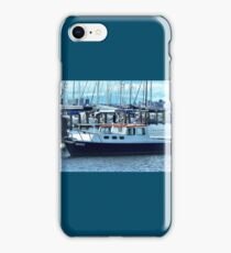 Red Roof - Cabin Cruiser moored at Williamstown, Vic. iPhone Case/Skin