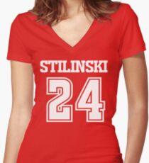 Stiles Stilinski Lacrosse Jersey - Back Women's Fitted V-Neck T-Shirt
