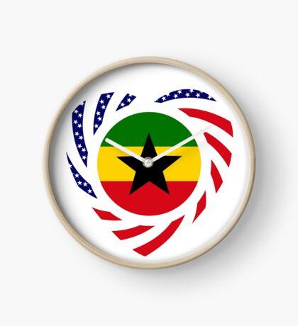 Ghanaian American Multinational Patriot Flag Series Clock