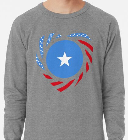 Somalian American Multinational Patriot Flag Series Lightweight Sweatshirt