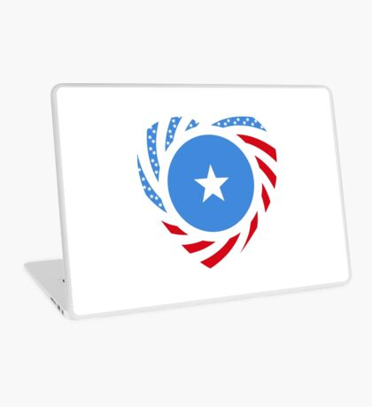 Somalian American Multinational Patriot Flag Series Laptop Skin