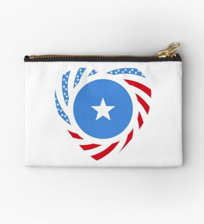Somalian American Multinational Patriot Flag Series Zipper Pouch
