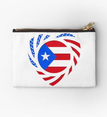 Puerto Rican American Multinational Patriot Flag Series 2.0 Zipper Pouch