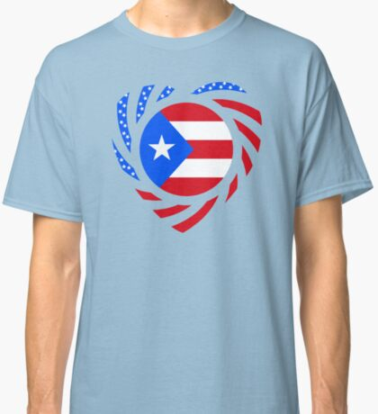 Puerto Rican American Multinational Patriot Flag Series 2.0 Classic T-Shirt