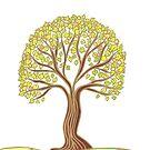 Stilisierter Frühlingsbaum von CarolineLembke