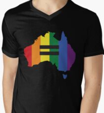 LGBT equality Australia Men's V-Neck T-Shirt