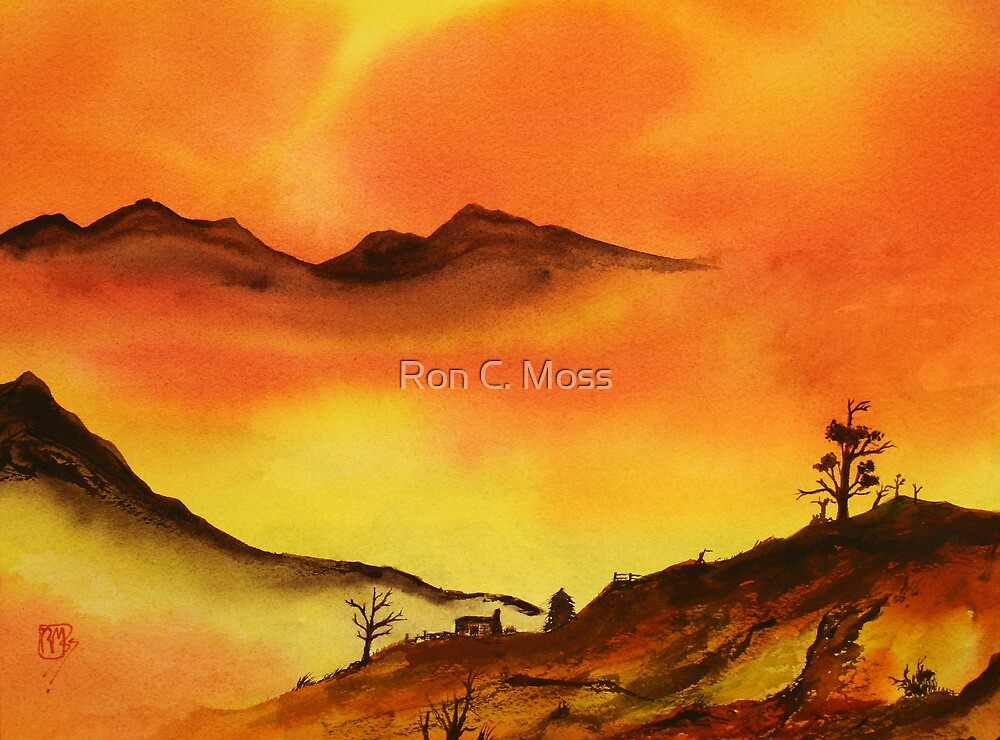 Mountain Fire by Ron C. Moss