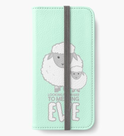 Fathers Day- Sheep - Looking forward to meeting you iPhone Wallet
