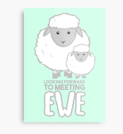 Fathers Day- Sheep - Looking forward to meeting you Metal Print